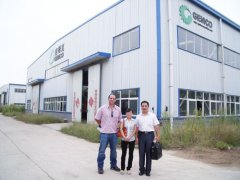customers from dominica visited us for rice husk pellet mill