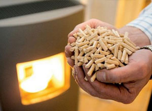 burning pellets in stove