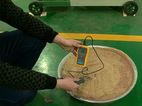 testing moisture content