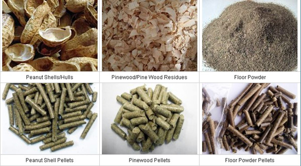 various material and pellets
