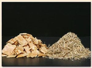 wood logs chips