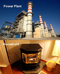 wood pellets used for power plants and household